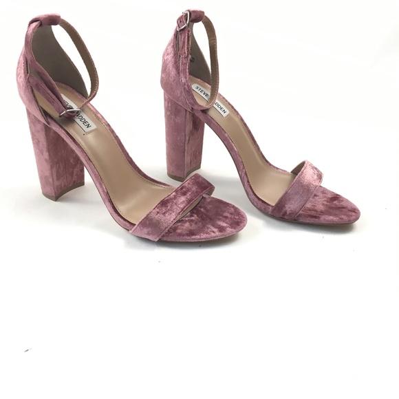 99278190654b New Steve Madden Carrson Pink Velvet Sandal